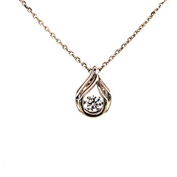 Teardrop CZ Necklace