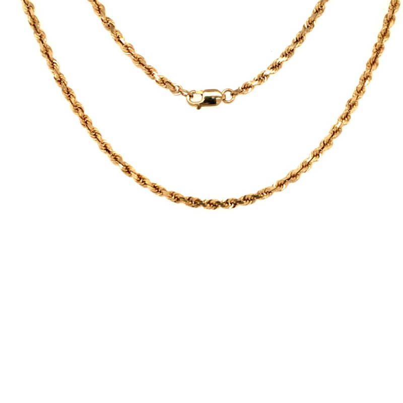 B&C Estate Collection Gold Diamond Cut Rope Chain