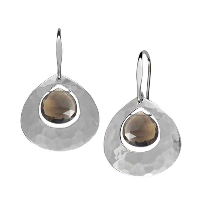 E. L. Designs Smokey Quartz Gum Drop Earrings