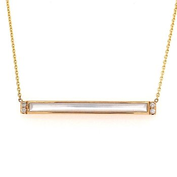 White MOP Rectangular Necklace