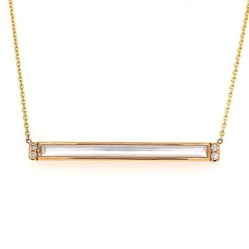 White MOP Rectangular Necklace
