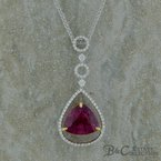 B&C Estate Collection Rubilite and Diamond Pendant