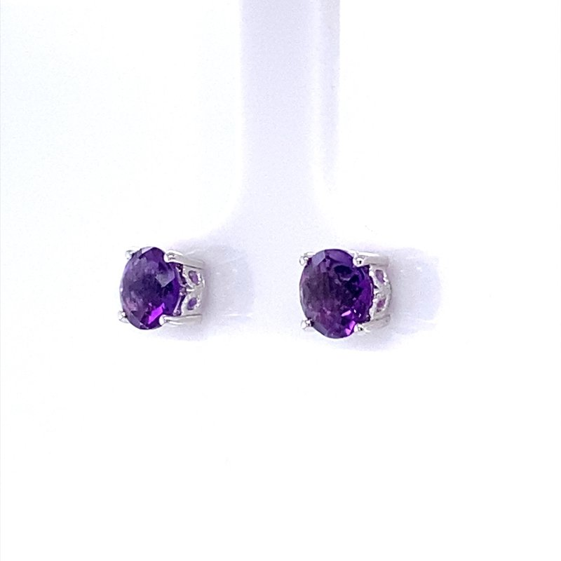 B&C Collections Amethyst Studs