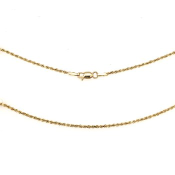 "16"" Diamond Cut Solid Rope Chain"