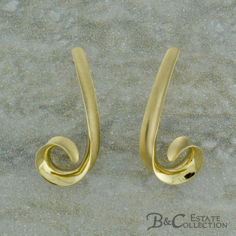 B&C Estate Collection Gold Swirl Earrings