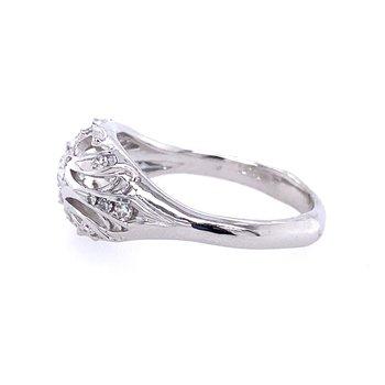 Pierced Nouveau Old European Diamond Ring