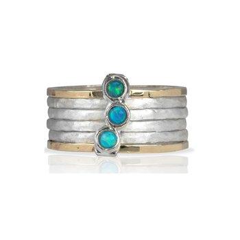 Azure Meditation Ring
