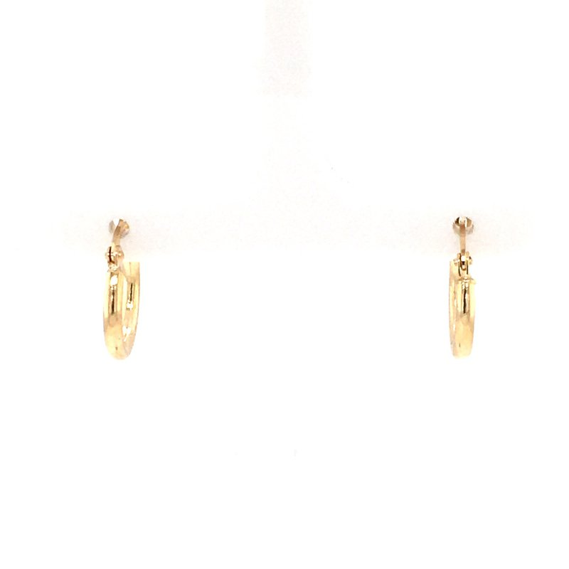 B&C Collections Round Tube Hoops in 14K Yellow Gold