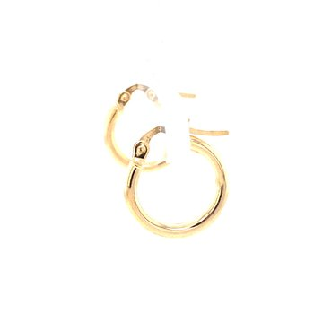Round Tube Hoops in 14K Yellow Gold