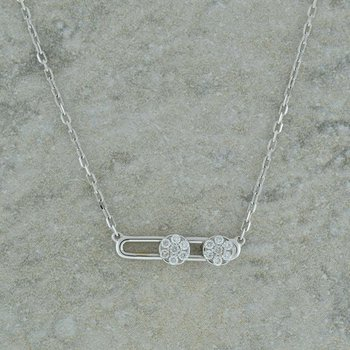 Double Cluster Slide Necklace