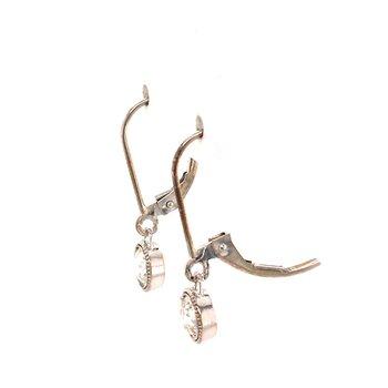 Old European Cut Diamond Dangle Earrings