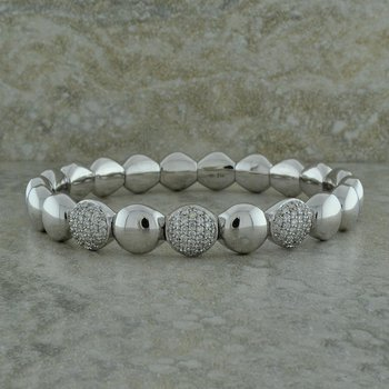 Pave Diamond Stretch Bracelet
