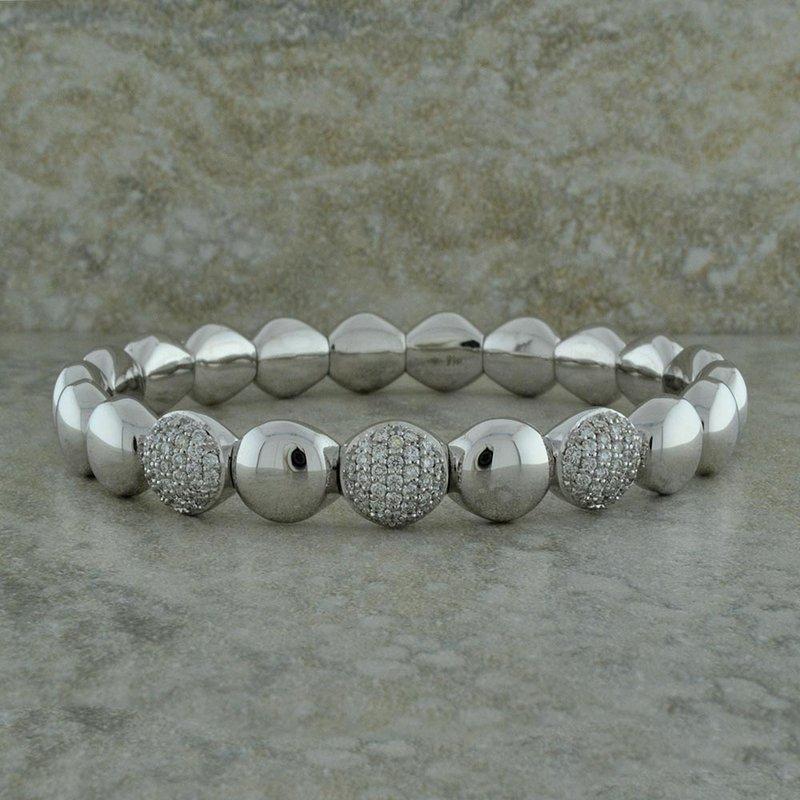 Hulchi Belluni Pave Diamond Stretch Bracelet