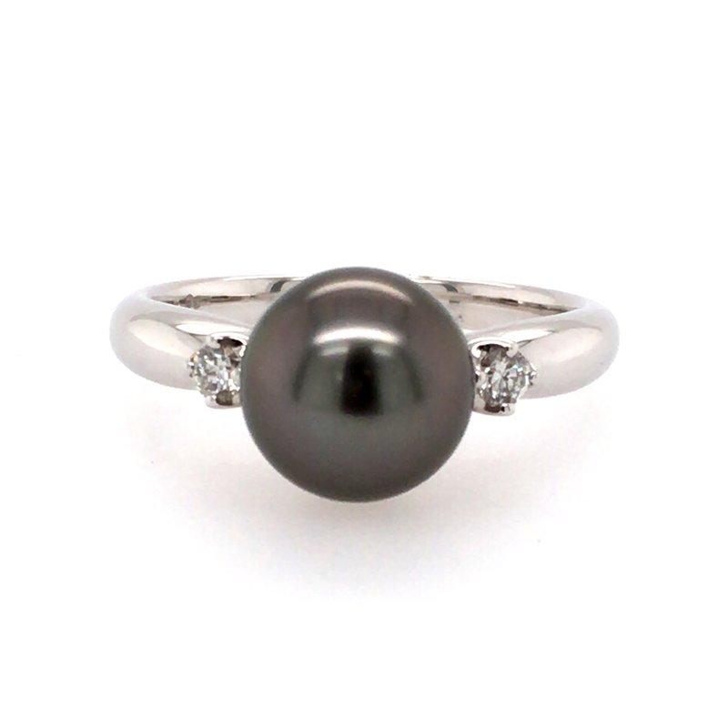 BRIAN'S VAULT Black Tahitian Pearl RIng