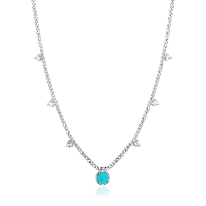 Ania Haie Turquoise Drop Disc Necklace