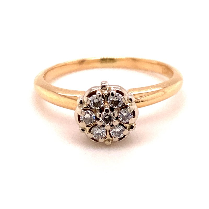B&C Estate Collection Diamond Cluster Ring