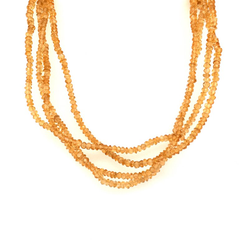 BRIAN'S VAULT Citrine Beaded Necklace