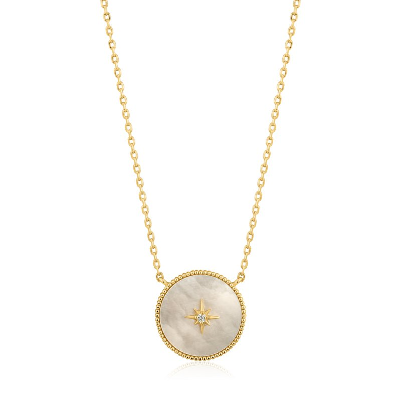 Ania Haie Mother of Pearl Emblem Necklace