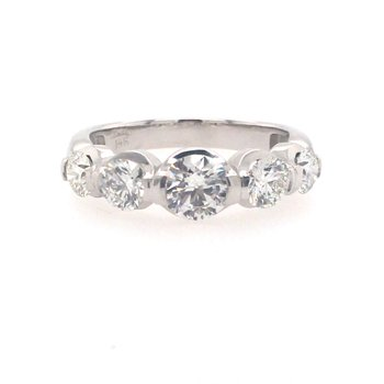 Elegant Five Stone Diamond Band