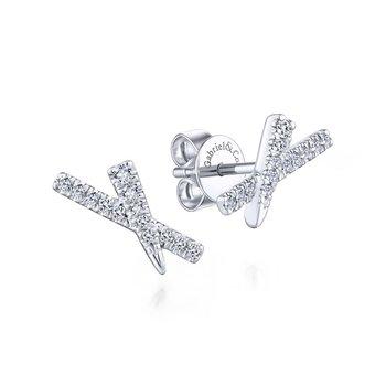 """X"" Diamond Studs"