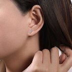 """Gabriel & Co. -  IN-STORE COLLECTION """"X"""" Diamond Studs"""