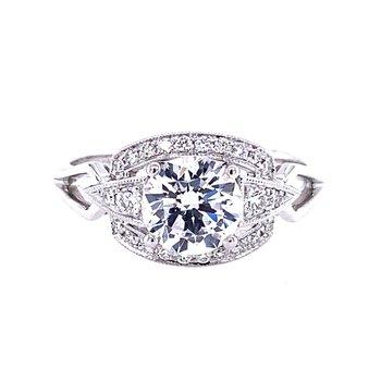 Diamond Engagement Ring, Vintage Inspired