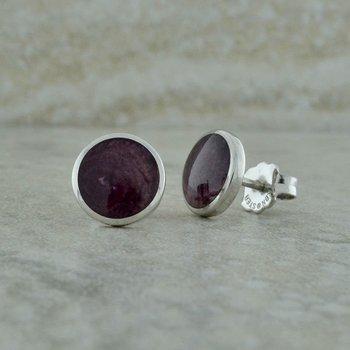 Purple Spiney Oyster Earrings