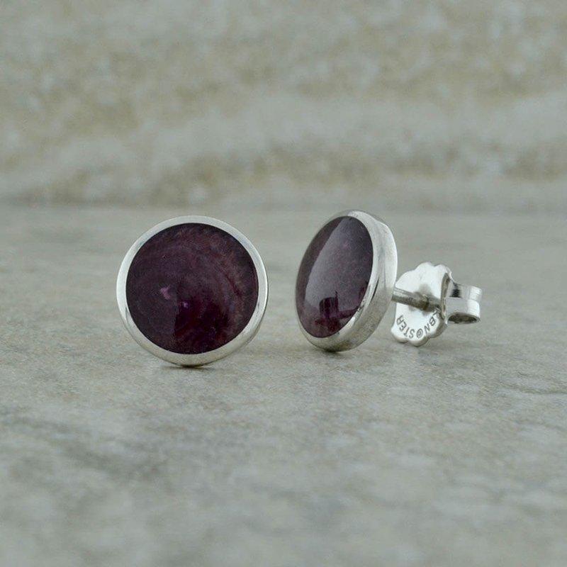 Kabana Purple Spiney Oyster Earrings