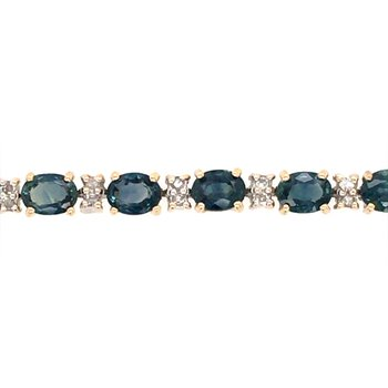 London Blue Topaz and Diamond Bracelet