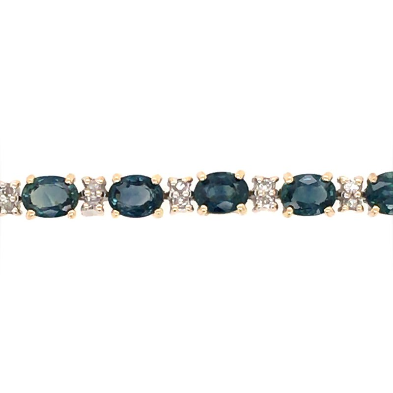 B&C Estate Collection London Blue Topaz and Diamond Bracelet