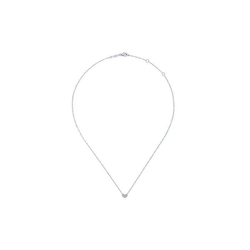 Gabriel & Co. -  IN-STORE COLLECTION Pave Diamond Heart Neckalce