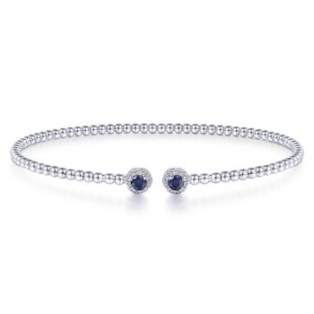 White Gold and Sapphire Bangle