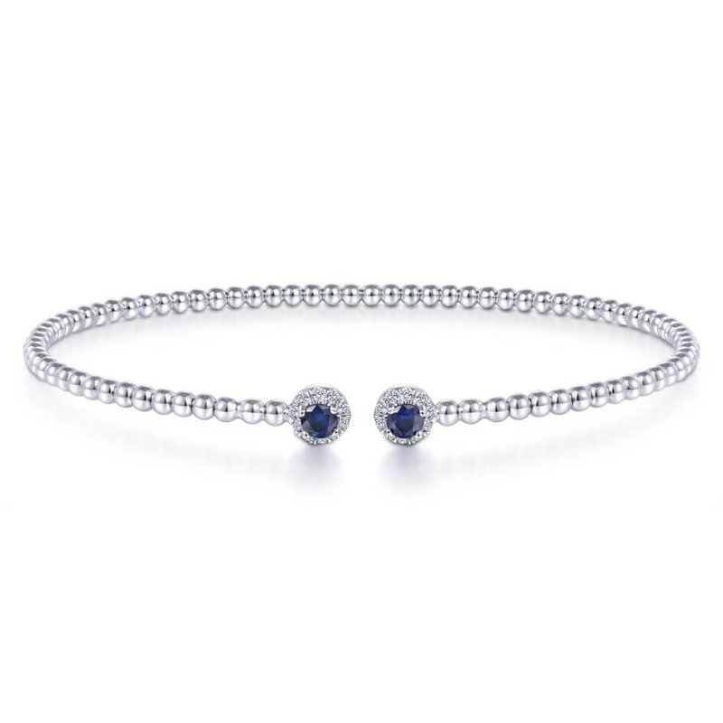 Gabriel & Co. -  IN-STORE COLLECTION White Gold and Sapphire Bangle
