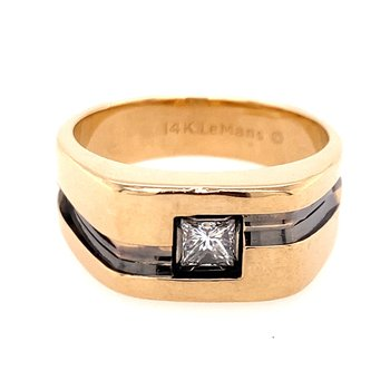 Diamond Accented Gents Ring