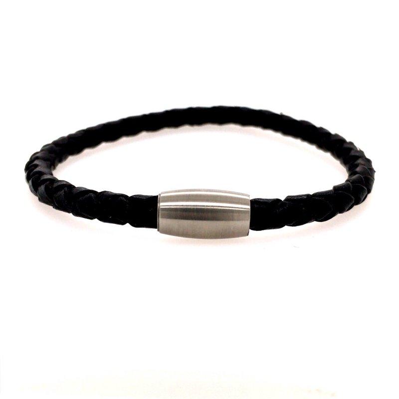 BRIAN'S VAULT Gents Leather Braided Bracelet