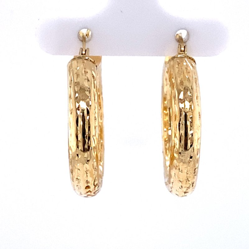 B&C Estate Collection Textured Gold Hoops