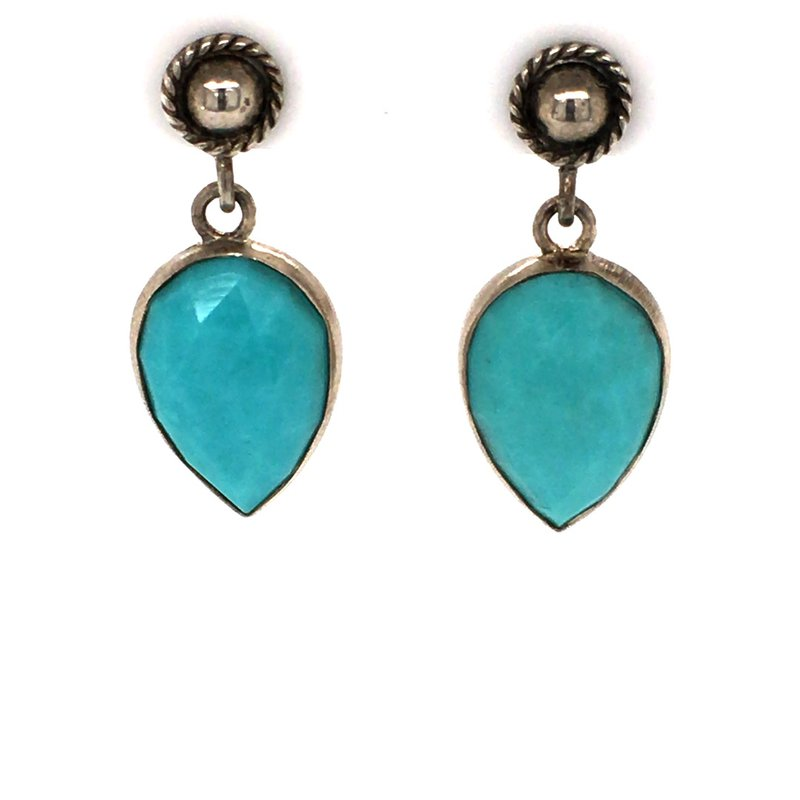 BRIAN'S VAULT Turquoise Stud Earrings