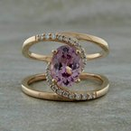 Parlé 14K Rose Gold Lotus Garnet Ring