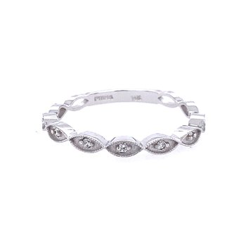 White Gold Diamond Band Ring