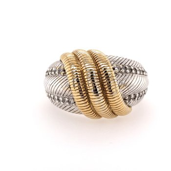 Two Tone Judith Ripka Ring