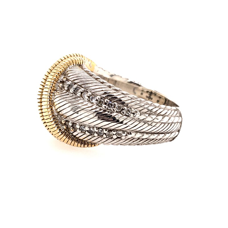 B&C Estate Collection Two Tone Judith Ripka Ring