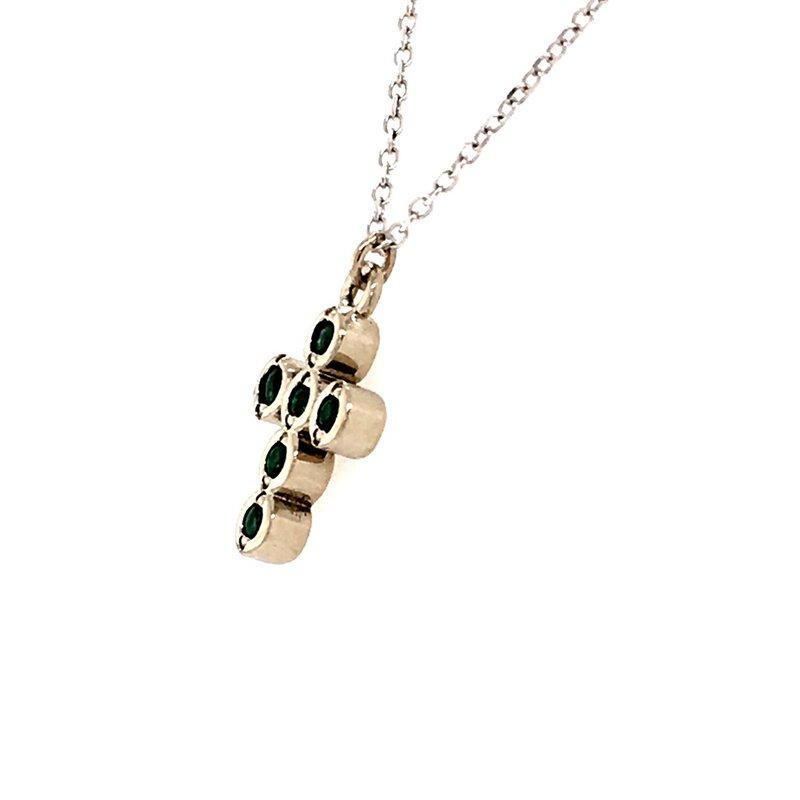 B&C Creations Emerald Cross Pendant