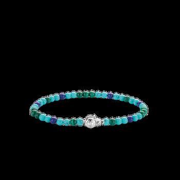 Mixed Blues Beaded Bracelet