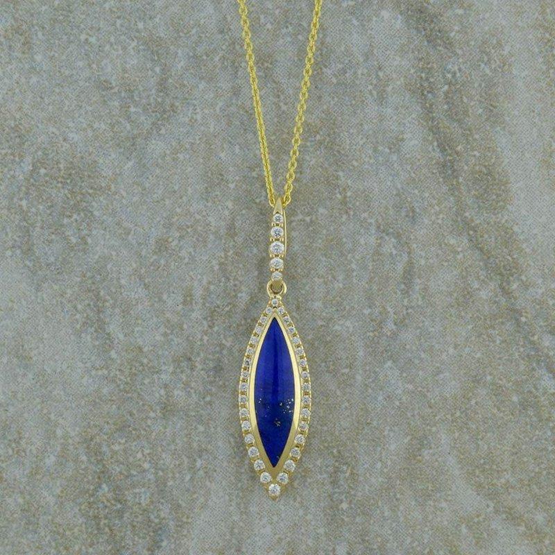 Kabana Lapis & Diamond Pendant