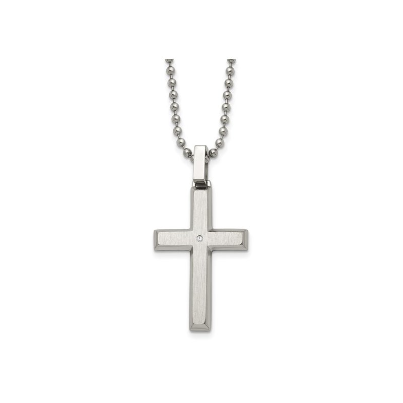 B&C Collections Sterling Silver Cross With Chain