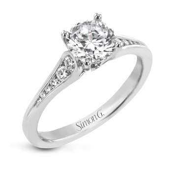 White Gold Channel Set Diamond Engagement Ring