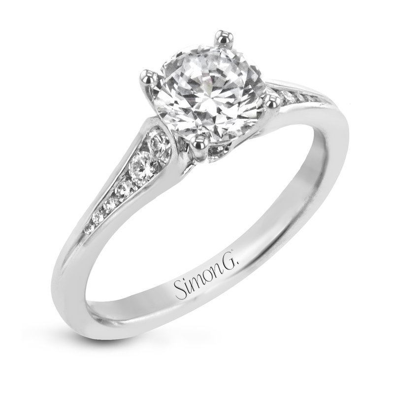 Simon G IN-STORE COLLECTION White Gold Channel Set Diamond Engagement Ring