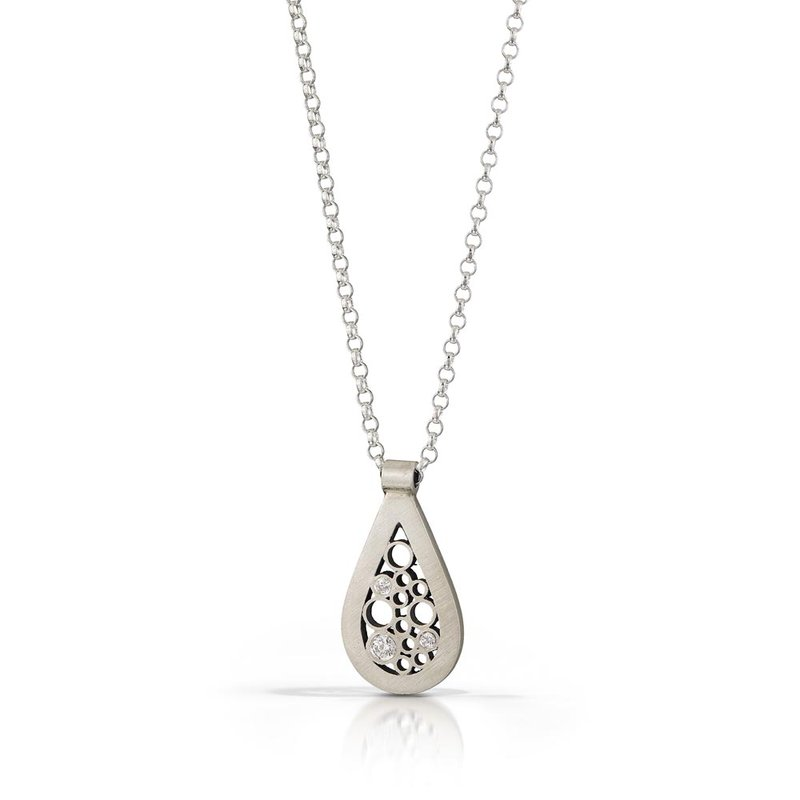 B&C Collections Diamond Teardrop Pendant