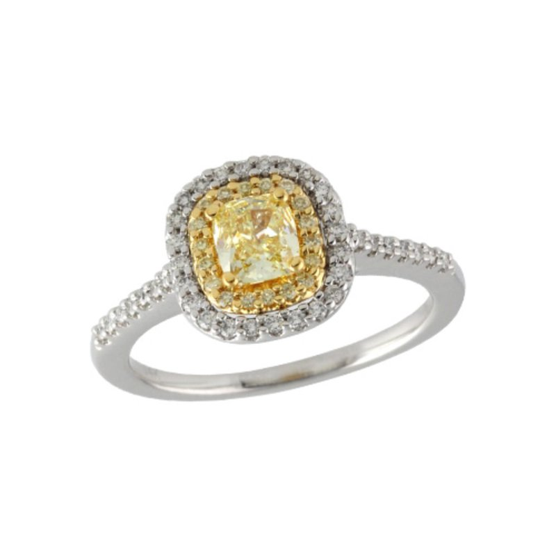 Allison Kaufman Fancy Yellow Diamond Engagement Ring