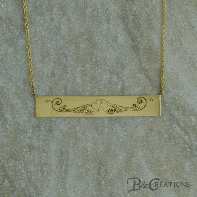 B&C Creations Entwined Heart Engraved Necklace